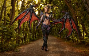 Picture cosplay, League of Legends, Zyra, Mikhail Davydov