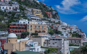 Picture home, slope, Italy, Positano, Amalfi coast