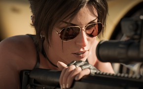 Picture lara croft, tomb raider, art, sniper, female, sniper girl, kisx