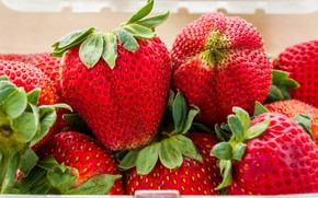 Picture close-up, berries, strawberry