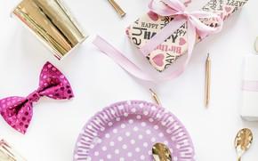 Picture gift, decor, Gift, Birthday, Ribbon, Birthday