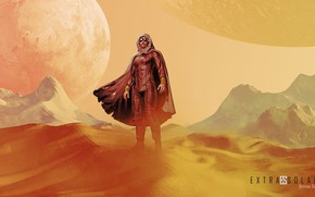 Picture planet, man, costume, Sands, bertrand dune