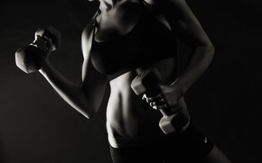 Picture girl, model, shadows, fitness