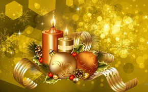 Picture decoration, background, new year