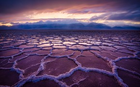Picture Rain, Death Valley, Salt Basin