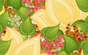 Picture flowers, pattern, texture, ornament, Paisley