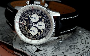 Picture military, aviation, jet, time, Breitling, wristwatch, slide rule