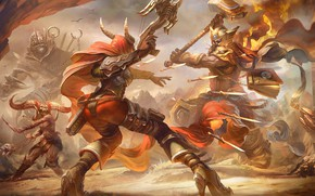 Picture weapons, horns, book, fight, heroes of the storm