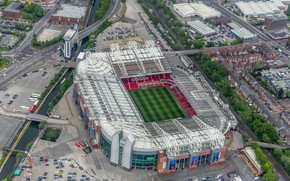 Picture stadium, football, Manchester, Manchester United