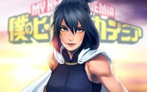 Picture girl, anime, brunette, art, Boku no Hero Academy, Nana Shimura