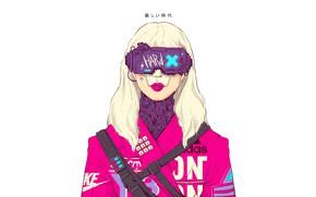 Picture Glasses, Style, Girl, Background, Fantasy, Art, Art, Style, Adidas, Fiction, Nike, Illustration, Sci-Fi, Cyberpunk, Cyberpunk, …