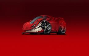 Picture Auto, Minimalism, Machine, Teeth, Background, Ferrari, Car, Art, 458, Ferrari 458 Italia, Illustration, Transport, Ferrari …