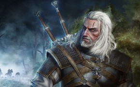 Picture weapons, male, Geralt of Rivia, The Witcher 3: Wild Hunt