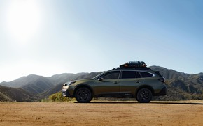 Picture Subaru, side view, universal, Outback, AWD, 2020