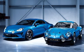 Wallpaper Blue, Alpine, A110