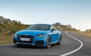 Picture road, machine, Audi, markup, lights, coupe, turn, TT RS, 2020