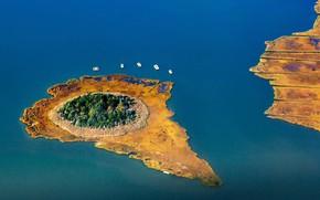 Picture New York, USA, Long Island, залив Монибок, остров Риди