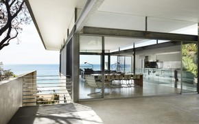 Picture Villa, interior, kitchen, living room, dining room, The Archer House