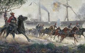 Picture civil war, Mort Kunstler, southerners, The Strangest Race