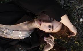 Picture girl, green eyes, long hair, dress, photo, photographer, model, bokeh, lips, face, coat, brunette, portrait, …