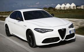 Picture white, Alfa Romeo, Giulia, 2020