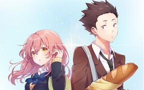 Picture girl, guy, two, sympathy, baton, Form voice, You No Katachi