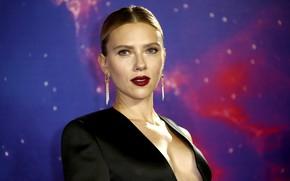 Picture look, face, pose, makeup, actress, Scarlett Johansson, singer, Scarlett Johansson, photoshoot, hair