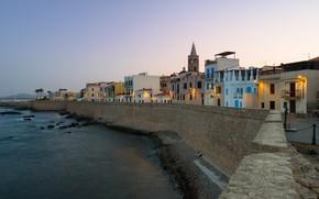 Picture the evening, Italy, Sardinia, Alghero