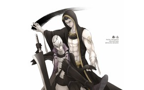 Picture weapons, sword, guys, two, Sengoku Basara, The Era Of Unrest