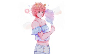 Picture girl, cotton candy, My Hero Academia, Boku No Hero Academy, My heroic academia, Ashido Mina