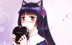 Picture gift, Valentine, heart, bangs, cat ears, valentine`s day, Ore no Imouto ga Konna ni Kawaii …