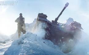 Picture Winter, The game, War, Tank, Shooter, Dice, Battlefield 5, Battlefield V