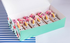Picture cream, dessert, cakes, sweet, eclairs