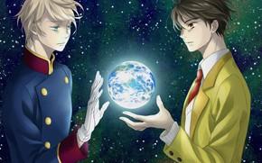 Picture anime, Earth, guys, Aldnoah Zero, Aldea zero, Slane Troyard, Kazuko, Ins
