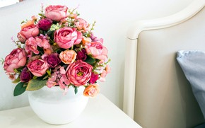 Picture bouquet, the hotel, artificial flowers