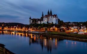 Wallpaper lights, the evening, Germany, Elba, Maysen