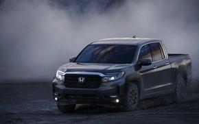Picture speed, dust, Honda, pickup, the ground, 2020, Ridgeline, 2021