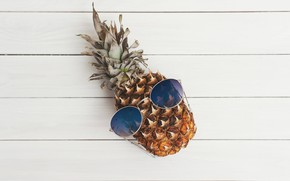 Picture creative, background, mood, humor, glasses, fruit, pineapple