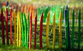 Picture background, the fence, color