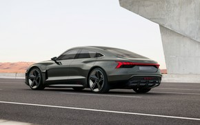 Picture Audi, coupe, highway, 2018, e-tron GT Concept, the four-door