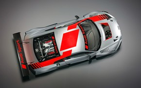 Picture racing car, Audi R8, the view from the top, LMS, 2019