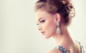 Picture girl, model, makeup, hairstyle, earrings, edwardderule