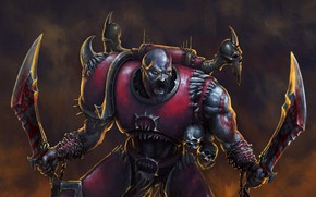 Picture Kratos, God of War, Warhammer 40 000, blades of chaos