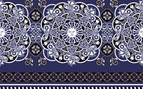 Picture white, pattern, texture, ornament, blue background
