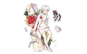 Picture robot, boy, Nier Automata, YoRHa No 9 Type S