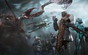 Picture the game, warrior, armor, Warframe