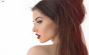 Picture girl, hair, lips, Eugene Balin, Elizaveta Kiseleva