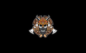Picture Minimalism, Skull, Style, Helmet, Axe, Background, Art, Art, Style, Shield, Background, Viking, Minimalism, Axes, inksyndromeartwork, …