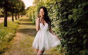 Picture girl, pose, smile, Park, dress, beauty, Rafael Khalilov