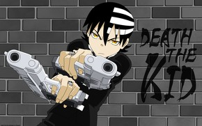 Picture wall, guns, anime, guy, Soul eater, Soul Eater, Death the Kid
